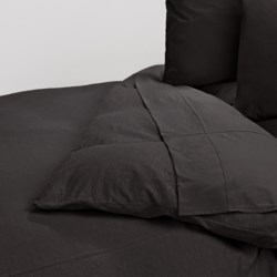 Coyuchi Organic Cotton Slub Jersey Duvet Cover - King in Slub Graphite