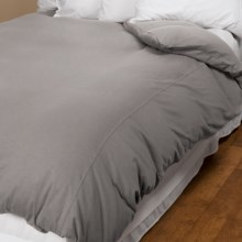 Coyuchi Organic Cotton Slub Jersey Duvet Cover - King in Slub Graphite - Closeouts