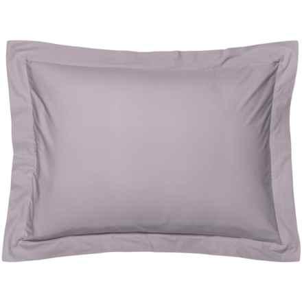 Coyuchi Palest Aubergine Organic Percale Pillow Sham - Standard, 220 TC in Palest Aubergine - Closeouts