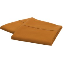 Coyuchi Percale Envelope Pillowcases - Queen, 220 TC Organic Cotton in Ochre - Closeouts