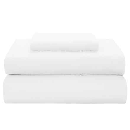 Coyuchi Percale Fitted Sheet - Twin, 300 TC Organic Cotton in Alpine White - Closeouts