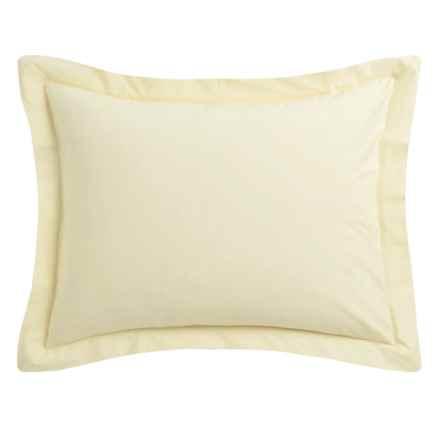 Coyuchi Percale Pillow Sham - Standard, 220 TC, Organic Cotton in Sunlight - Closeouts
