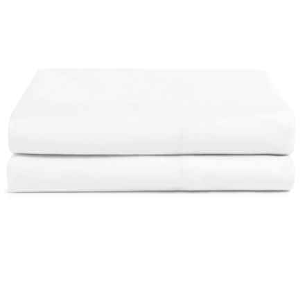 Coyuchi Percale Pillowcases - King, Organic Cotton, Set of 2 in Alpine White - Closeouts
