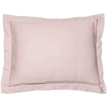 Coyuchi Petal Organic Sateen Pillow Sham - Standard, 300 TC in Petal - Closeouts