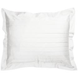 Coyuchi Pintuck Pillow Sham -  300 TC Organic Cotton Sateen, Standard in Jade