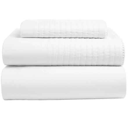 Coyuchi Pintuck Sheet Set - Twin, Organic Cotton in Alpine White - Closeouts