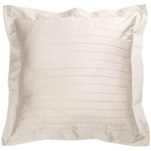 Coyuchi Pleated Sateen Pillow Sham - Euro, 300 TC Organic Cotton in Ivory - Closeouts
