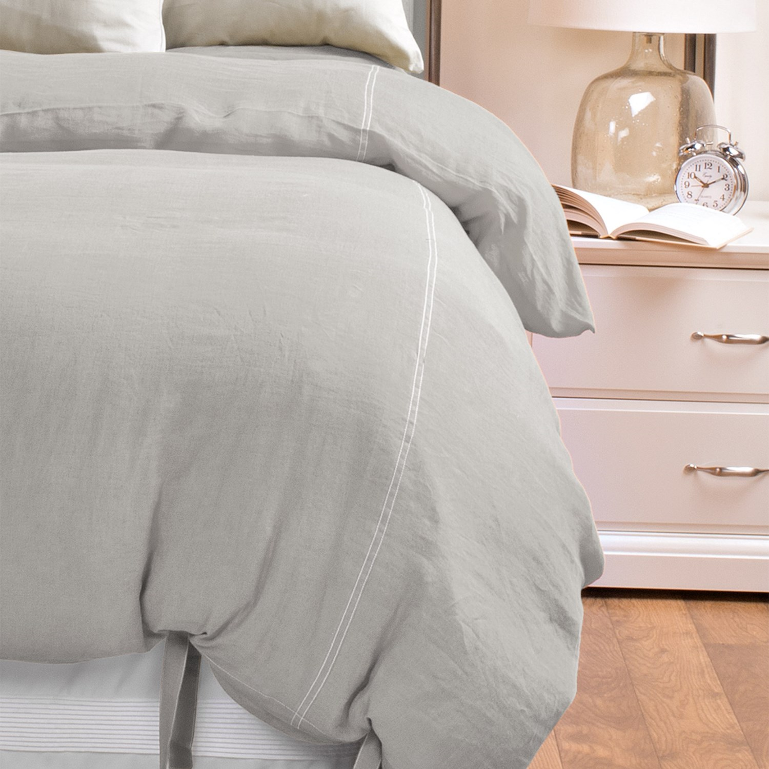 Coyuchi Relaxed Linen Duvet Cover King In Pewter