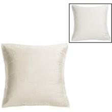 Coyuchi Reversible Wave Sateen Pillow Sham - Euro, Reversible, 300 TC Organic Cotton in White/Ivory - Closeouts