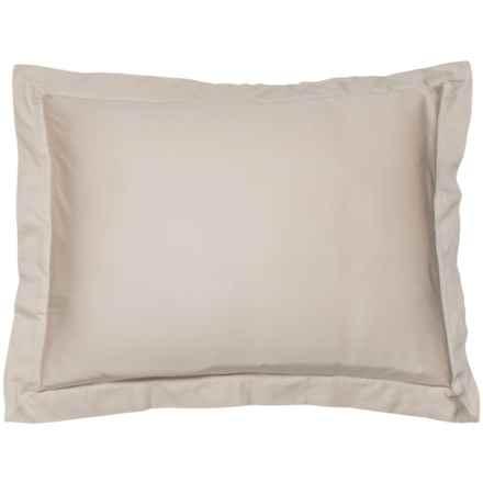 Coyuchi Sandstone Organic Sateen Pillow Sham - Standard, 300 TC in Sandstone - Closeouts