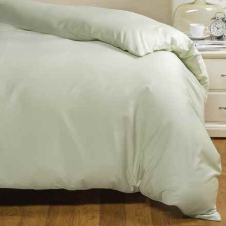 Coyuchi Sateen Duvet Cover - Full-Queen, Organic Cotton in Aloe - Closeouts