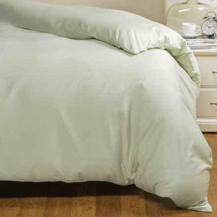Coyuchi Sateen Duvet Cover - King, Organic Cotton in Aloe - Closeouts