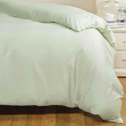 Coyuchi Sateen Duvet Cover - Twin, Organic Cotton in Aloe - Closeouts
