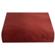 Coyuchi Sateen Fitted Sheet - Twin XL, 300 TC Organic Cotton in Brick - Closeouts