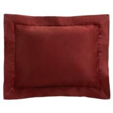 Coyuchi Sateen Pillow Sham - Boudoir, 300 TC, Organic Cotton in Brick - Closeouts