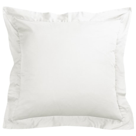 Coyuchi Sateen Pillow Sham Euro, 300 TC Organic Cotton