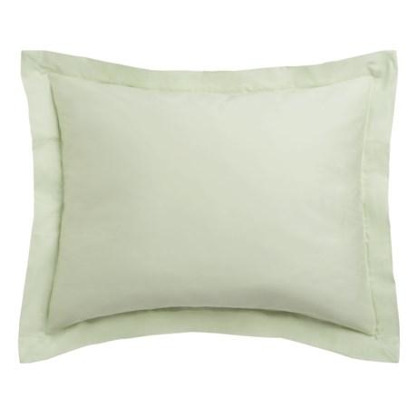 Coyuchi Sateen Pillow Sham - King, 300 TC, Organic Cotton in Aloe