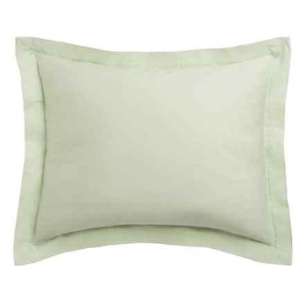 Coyuchi Sateen Pillow Sham - Standard, 300 TC, Organic Cotton in Aloe - Closeouts