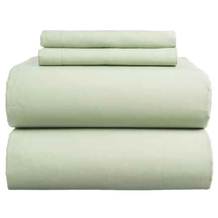 Coyuchi Sateen Sheet Set - California King, Organic Cotton in Aloe - Closeouts