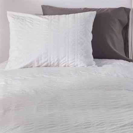 Coyuchi Seashore Seersucker Duvet Set - Organic Cotton, Twin in Alpine White - Closeouts