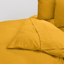 Coyuchi Slub Jersey Organic Cotton Duvet Cover - Full-Queen in Slub Mustard - Closeouts