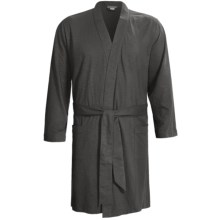Coyuchi Slub Jersey Robe - Organic Cotton, Long Sleeve (For Men) in Charcoal - Closeouts