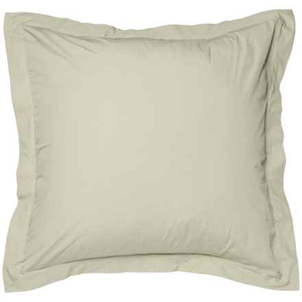 Coyuchi Sunlight Organic Percale Pillow Sham - Euro, 220 TC in Sunlight - Closeouts