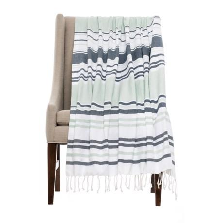 Image of Coyuchi Sutro Stripe Coverlet Throw Blanket - Organic Cotton