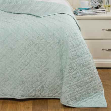 Coyuchi Twilight Quilt - Organic Cotton, Twin in Misty Ocean - Closeouts