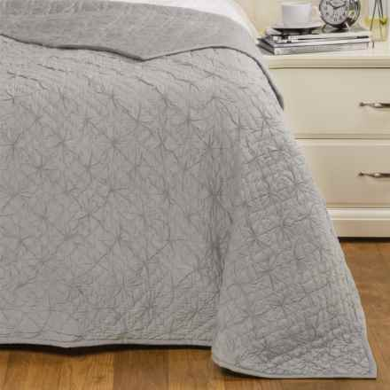 Coyuchi Twilight Quilt - Organic Cotton, Twin in Pale Gray - Closeouts