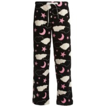 Cozy Fleece Lounge Pants (For Women) in Black Clouds - 2nds