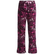 Cozy Fleece Lounge Pants (For Women) in Black Love - 2nds