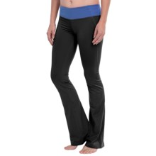 Cozy Orange Virgo Yoga Pants (For Women) in Raven Black/Tranquil Blue - Closeouts