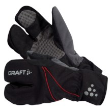 Craft of Sweden Thermal Split Finger Gloves - Removable Liner, Insulated (For Men and Women) in Black - Closeouts