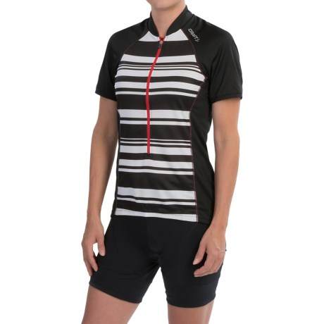 Craft Path Cycling Jersey UPF 25+, Short Sleeve (For Women)