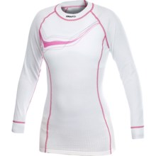 Craft Sportswear Active Base Layer Top - Midweight, Long Sleeve (For Women) in White/Multi Color - Closeouts