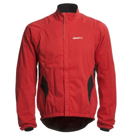 Craft Sportswear Active Bike Rain Jacket (For Men) in Bright Red/Black