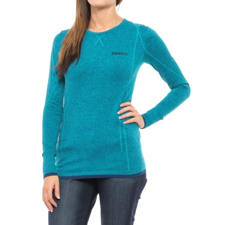 Craft Sportswear Active Comfort Base Layer Top - Long Sleeve (For Women) in Gale/Black