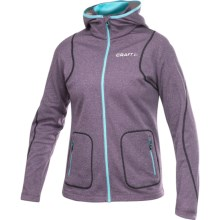 Craft Sportswear Active Hooded Jacket (For Women) in Blackberry - Closeouts