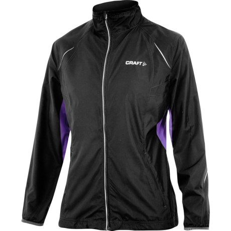 Craft Sportswear Active Run Jacket (For Women) in Black