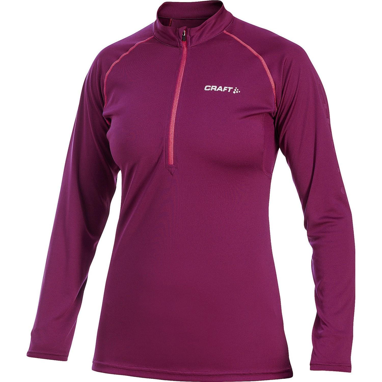 Craft sportswear active run t shirt zip neck long for Craft women s run