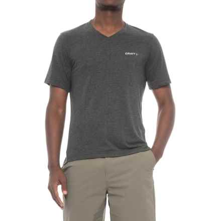 Craft Sportswear Basic T-Shirt - V-Neck, Short Sleeve (For Men) in Black - Closeouts