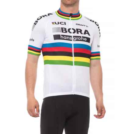 Craft Sportswear Bora Hansgrohe Replica Cycling Jersey - Front Zip, Short Sleeve (For Men) in White - Closeouts