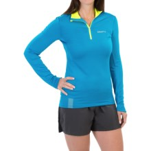 Craft Sportswear Facile Pullover Shirt - Zip Neck, Long Sleeve (For Women) in Brisk/Flumino - Closeouts