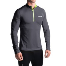 Craft Sportswear Facile Shirt - Zip Neck, Long Sleeve (For Men) in Asphalt/Flumino - Closeouts
