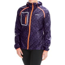 Craft Sportswear Focus Hooded Jacket (For Women) in Dynasty/Lilac - Closeouts