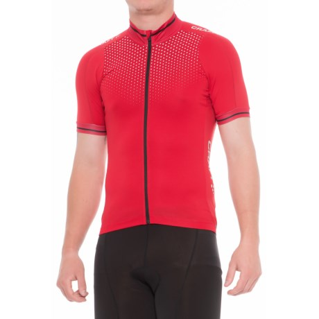 Craft Sportswear Glow Full-Zip Cycling Jersey - UPF 25+, Short Sleeve (For Men) in 2430 Bright Red/Black