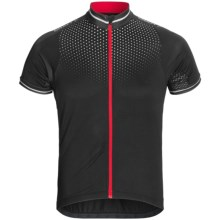 Craft Sportswear High-Performance Bike Glow Jersey - UPF 50+, Full Zip, Short Sleeve (For Men) in Black/Bright Red - Closeouts