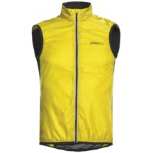 Craft Sportswear High-Performance Bike Light Cycling Vest (For Men) in Yellow/Black - Closeouts