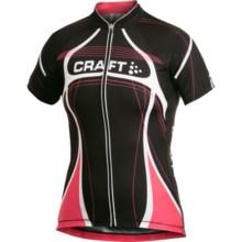 Craft Sportswear High-Performance Bike Tour Jersey - Full Zip, Short Sleeve (For Women) in Black/White/Cheer - Closeouts